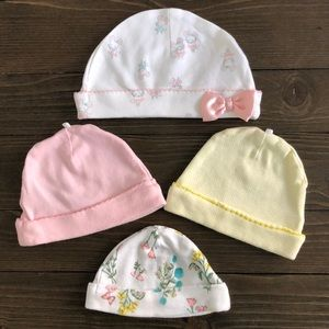 4pk! Baby Girl Newborn Hats | Excellent condition!
